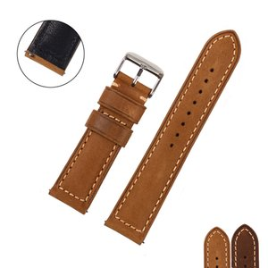 EACHE 20mm 22mm Echtlederarmband mit Retro Matte Leder Uhrenarmband Crazy Horse Uhrenarmband Schnellverschluss Federstab