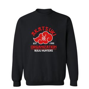 Felpe da uomo in vendita calda Autunno Inverno Stampa Akatsuki Moda Casual Abbigliamento sportivo da uomo Felpa con cappuccio Harajuku Naruto Akatsuki Felpe con cappuccio