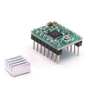 Pilote de moteur pas à pas de Stepstick A4988 de pièces de l'imprimante 10PK 3D avec des radiateurs pour le panneau de carte PCB rouge et vert de Reprap
