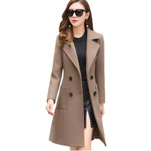 VogorSean Mulheres Inverno Casacos De Lã Quente 2018 Slim Fit Moda Casual Senhora Do Escritório Misturas Da Mulher Casaco Jaqueta Caca Mais tamanho Novo S18101203