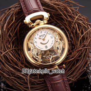 Bovet de alta calidad de Pininf Amadeo Fleurier VIRTUOSO IVTourbillon Virtuoso Esqueleto de oro Reloj de señora Reloj de pulsera para mujer