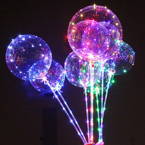 New BoBo Balls Safety Air Atmosfera Inflation Wave LED Line String Balloon Light per Natale Halloween Wedding Party Bambini Home Decor