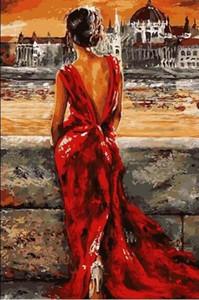Pintura a óleo de diy by numbers lona imagem coloração adulto pintura corpo pintura acrílica caligrafia por número decoração da parede menina
