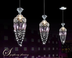 Свободные грузы кулон Кристалл лампы исследование спальня, столовая кристаллический светильник / современные хрустальная люстра еды LLFA
