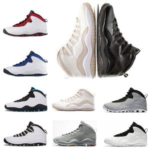 Взрослые Баскетбольные кроссовки 10 10s Мужская выпускная Light Smok Chicago Steel Im Honors Уэстбрук Venom ходячий мужчина дизайнер кроссовки