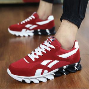 İlkbahar Sonbahar Erkek Sneakers 2018 Erkekler Koşu Ayakkabıları Trend Spor Ayakkabıları Nefes Eğitmenler Sneakers Erkek Artı Boyutu 49