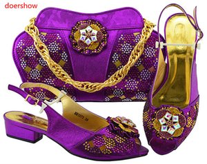Italian Ladies Shoes and Bags To Match Set Shoes and Bag Set African Sets 2018 Nigerian Women Wedding Shoes and Bag MBF1-41