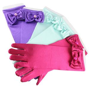 5 colori Baby Bow perla Principessa Guanti delle ragazze del fumetto Principessa Guanti per il vestito di Halloween Cosplay Guanti del partito Accessori per bambini C4950