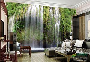 3d stereoscopic wallpaper European Roman Waterfall landscape TV backdrop living room 3d wallpaper