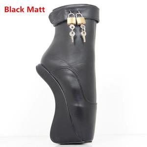 Kadın Kısa Çizmeler Moda Seksi Fetiş Ayak Bileği Yüksek Topuk Pompaları Süet Toka Stiletto Ince Topuklu PadLocks Çizmeler Altın Parlak Bale Tarzı Ayakkabı