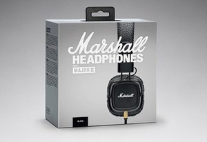 Marshall Major II 2 개의 헤드폰 Mic Deep Bass 포함 DJ Hi-Fi 헤드폰 HiFi 헤드셋 Iphone X 8 Plus Note8 S9 +