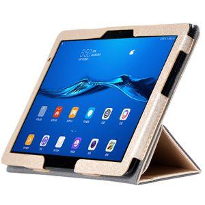 30pcs 실크 패턴 Huawei MediaPad M5 Lite 10 BAH2-L09 BAH2-W19 BAH2-AL09 10.1 인치 태블릿 스타일러스 펜에 대 한 PU 가죽 케이스 플립 북 커버