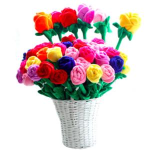 Красивые 8 шт. / лот детские плюшевые игрушки 62 см подсолнечника занавес пряжки мультфильм плюшевые цветок занавес Роза свадебный подарок на день рождения