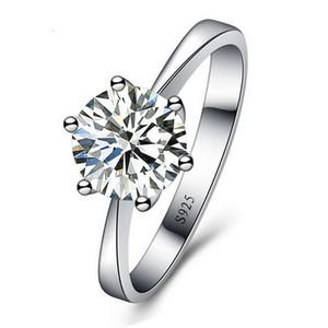 Romantische Hochzeit Ringe Schmuck Zirkonia Ring für Frauen Männer 925 Sterling Silber Ringe Zubehör