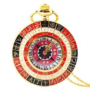 Estilo Retro relógio de bolso Tai Chi chinês Feng Shui Mascot Pocket Watch Grande Cadeia Relógio de colar camisola
