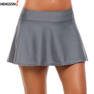 Breve Badminton Tennis gonne a vita alta di sport delle donne Gonna Pallavolo spiaggia Attività Gonna Donne Tuta Sportswear