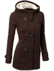 Mode Vente Chaude Femmes Veste Vêtements Nouvel Hiver 7 Couleur Vêtements Manteau Épais Filles Vêtements Lady Vêtements Avec À Capuche, Plus la taille