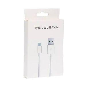Type-C Câble USB pour Huawei Xiaomi charge rapide des câbles Date USB C Type de charge Cordon pour Samsung Téléphone portable Câbles avec Retail Box