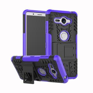Kickstand Hibrid Zırh Vaka TPU PC Telefon Tutucu Kapak Için Huawei Nova Lite 3 Sony Xperia L3 XZ4 Kompakt XZ4 Xperia 1 XA3 Ultra 10 Artı 10 +