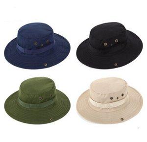 4 색 캐주얼 ourdoor sunshade 모자 모자 힙합 여행 모자 낚시 모자 웨스트 카우보이 모자 패션 양동이 모자 남성을위한
