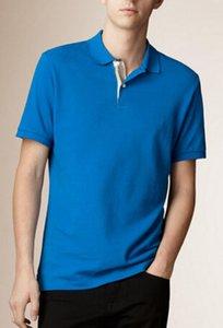 Art und Weise Sommer-Mann-beiläufige festes Polohemd London Brit kurze Ärmel der Männer britische Baumwollpolohemden UK Sport Polos Größe S-XXL