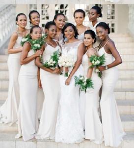 Слоновая кость платья невесты длинные Русалка бретельках дешевые элегантные платья выпускного вечера для свадьбы вечерние платья вечерние платья макси 2018