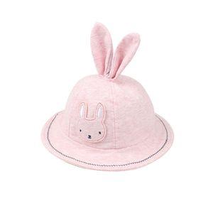 2018 venta calienteCute Rabbit Baby For Girls Algodón Sombrero de Panamá Con Orejas de Conejo de Dibujos Animados Baby Girls Sun Cap Summer Girls Vestidos envío gratis