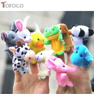 TOFOCO 10 unids / set Finger Doll Animal Toy Para Niños Marionetas de Dedo Conjunto Pescado Princesa Bug Niños Niñas Marionetas de Dedo