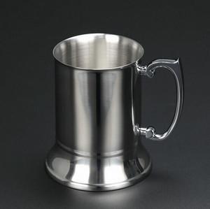 ücretsiz kargo Yüksek kaliteli ayna 450ml Çift Duvar paslanmaz çelik maşrapa, paslanmaz çelik bira kupa, paslanmaz çelik stein