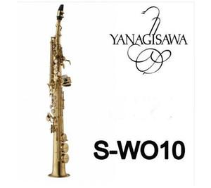 Прибытие Yanagisawa S-991 S-WO10 Позолоченный Saxophone Сопрано B (B) Tune B Плоский саксовый латунный инструмент с корпусом