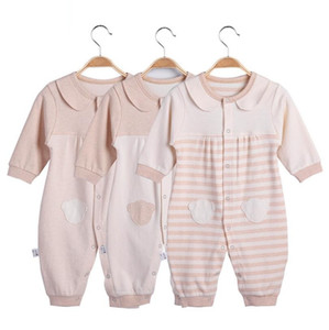 Baby Fashion Newborn Baby Girl Boys Long-Sleeve Bear Printed Spring Autumn Infant Jumpsuit Body Rompers Outfits Clothes