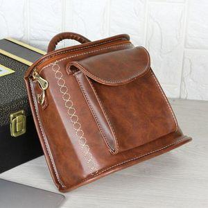 Student Backpack For Teenage Girls Handbag Shoulder Bags Casual Travel Woman PU Leather Rucksack Bag College School Bags Back Pack