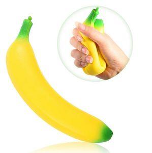 Banana Squishy Imitation Fidget Toys Squishies сжимает подарок аромат аромат ароматизированные джамбо живые украшения телефон ремешок бесплатная доставка
