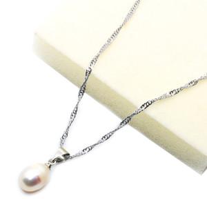 Collana di perle naturali d'acqua dolce naturale 13-14mm ciondolo perla ovale gioielli femminili di fascino