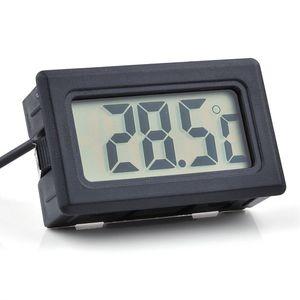 100 pcs Numérique LCD Écran Thermomètre Réfrigérateur Réfrigérateur Congélateur Aquarium FISH TANK Température -50 ~ 110C GT Noir Blanc Couleur lin2435