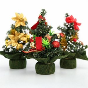 Mini albero di Natale artificiale di 20 cm con decorazioni per la festa di Natale