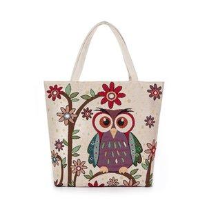 Ev Kumaş Shopper Kılıfı için Kadın Canvas Tote bag Yeniden kullanılabilir Eko Alışveriş Çantası Katlanabilir Polyester Çantalar