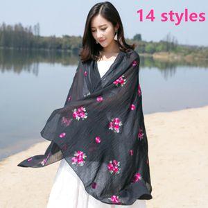 Grand foulard en coton coloré pour femmes avec écran solaire en printemps et en été avec glands confortables pour hiver