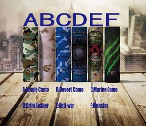 moins cher batterie enveloppe 20700 21700 18650 chaleur rétractable PVC vape personnalisé accessoires mod batterie wrapper autocollant jungle désert camo