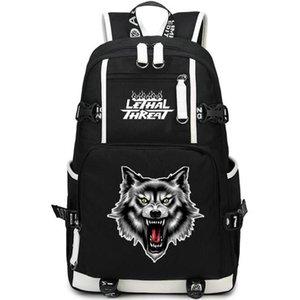 Wolf head motociclista zaino letale minaccia zainetto pilota calda zaino scuola borsa zaino Sport Qualità giorno Pack Outdoor