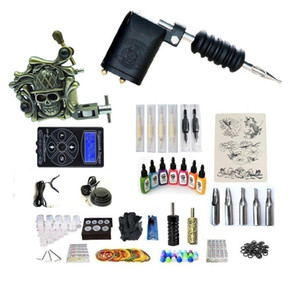 Professional Tattoo Kit 2 Gun (Handmade & Rotary) Machine With High Quality Power Supply 2 Grips Back Stem Tube 7 Ink 50 Needles G2Z1R4