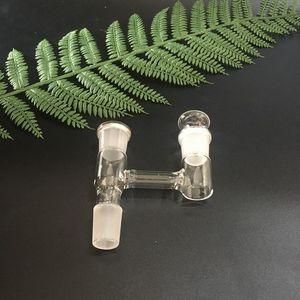 Adattatore a collettore Y da 14 mm e 18,8 mm con maschio carb plug per entrambi i giunti femmina per bong d'acqua