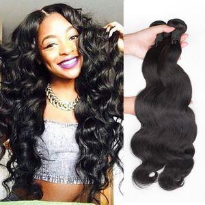 Malaysian Peruxian Indian Virgin Hair Brazilian Body Weave 4 Boundles Deals Unprocessed Human Hair Extensions Natural Black