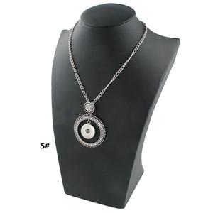 Único New Noossa Botão Snap Colar de Pingente com Cristal Pequeno Grande Círculo Completo CZ Jóias com Diamantes para Venda