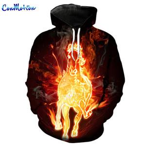 ConMotion Speeding Flame Horse Sudaderas con capucha