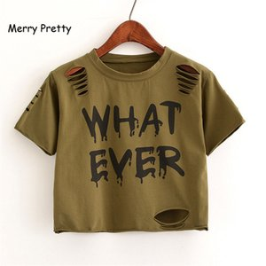 MERRY PRETTY New t Shirt Donna Crop Top Harajuk Girocollo Manica corta WHIT MAI stampato T-Shirts Sexy Summer Top For Girls
