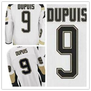 2016 Cheap Road Away # 9 Pascal Dupuis blanco Jerseys Comercio al por mayor de buena calidad 100% bordar jerseys de hockey sobre hielo