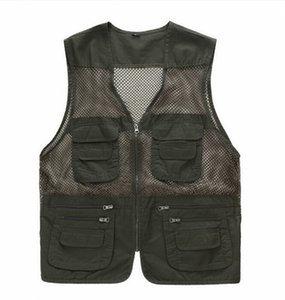 Formal Male Vest Casual Loose Plus Size Solid Black Men Vest With Many Pockets Waistcoat High Quality New