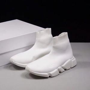 Zapato de calcetín de lujo al por mayor 2018 Paris Speed Trainer Zapatillas de running Blanco Rojo Zapatillas de deporte calcetines de carreras Zapatos Hombres Mujeres Deportes Botas