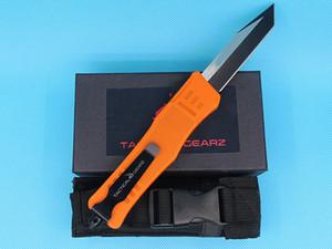 New Orange Handle 616 Large Auto Tactial Knife 440C Single Edge Tanto Fine Black Blade Outdoor Survival Tactical Gear